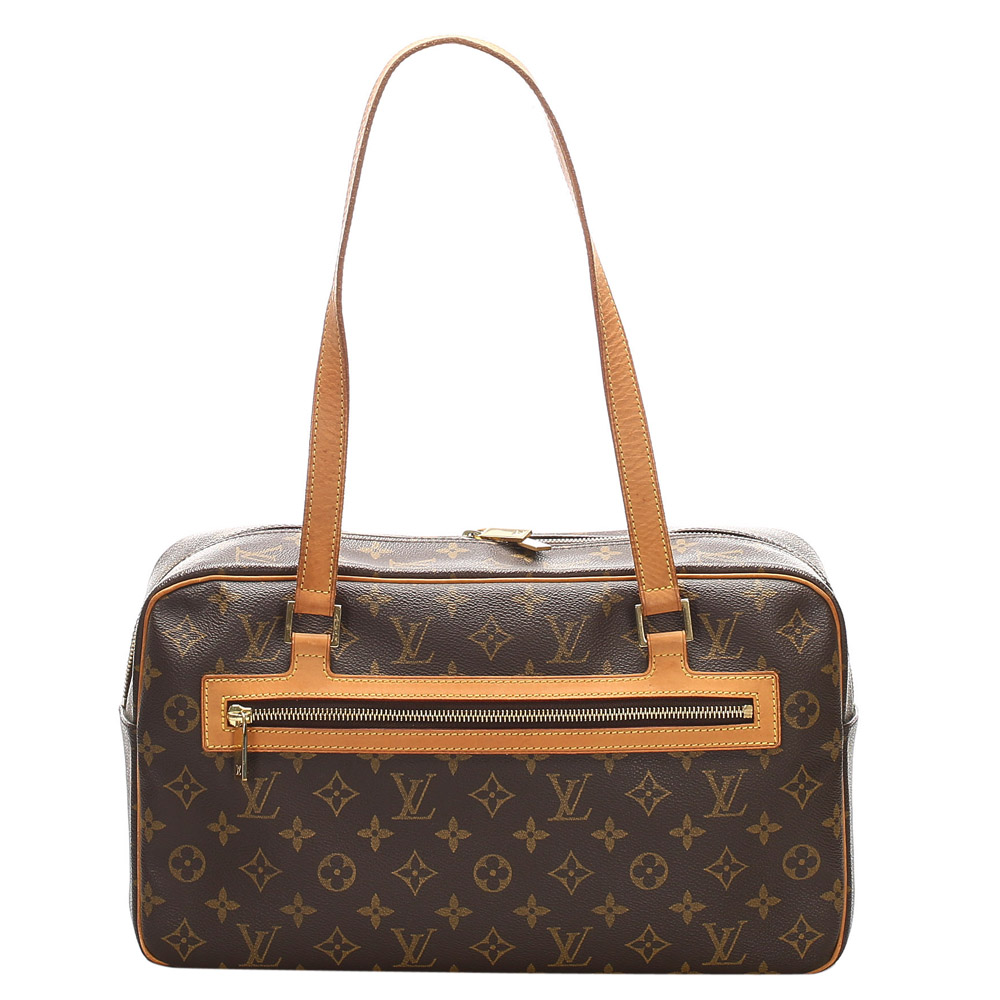 Pre-owned Louis Vuitton Monogram Canvas Cite Gm Shoulder Bags In Brown