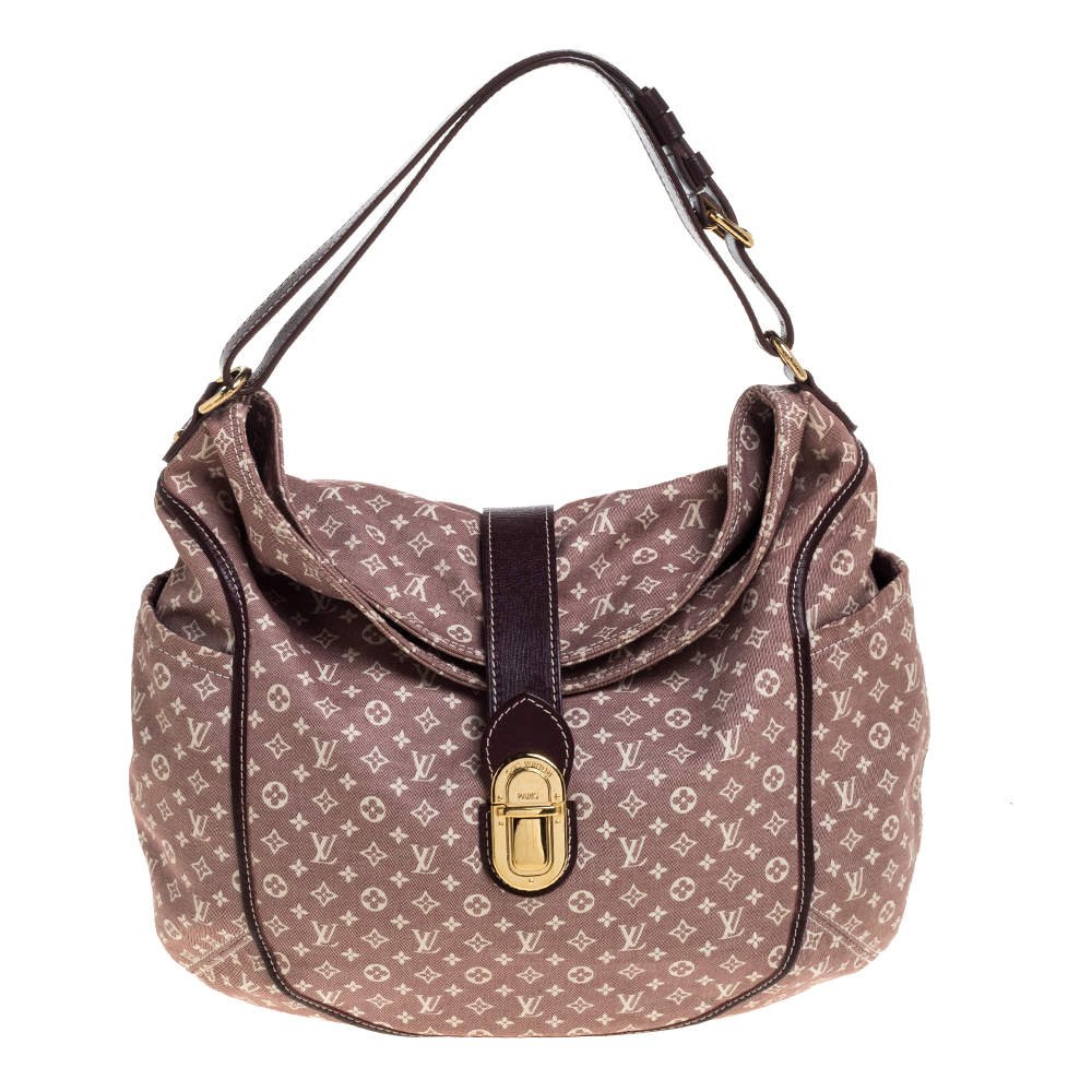 Pre-owned Louis Vuitton Sepia Monogram Idylle Romance Bag In Pink