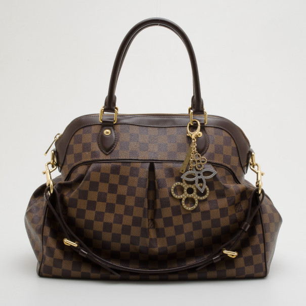 Louis Vuitton Damier Ebene Trevi GM Handbag With Charm
