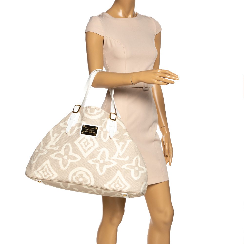 Louis Vuitton Beige Canvas Limited Edition Tahitienne Cabas GM Bag  - buy with discount