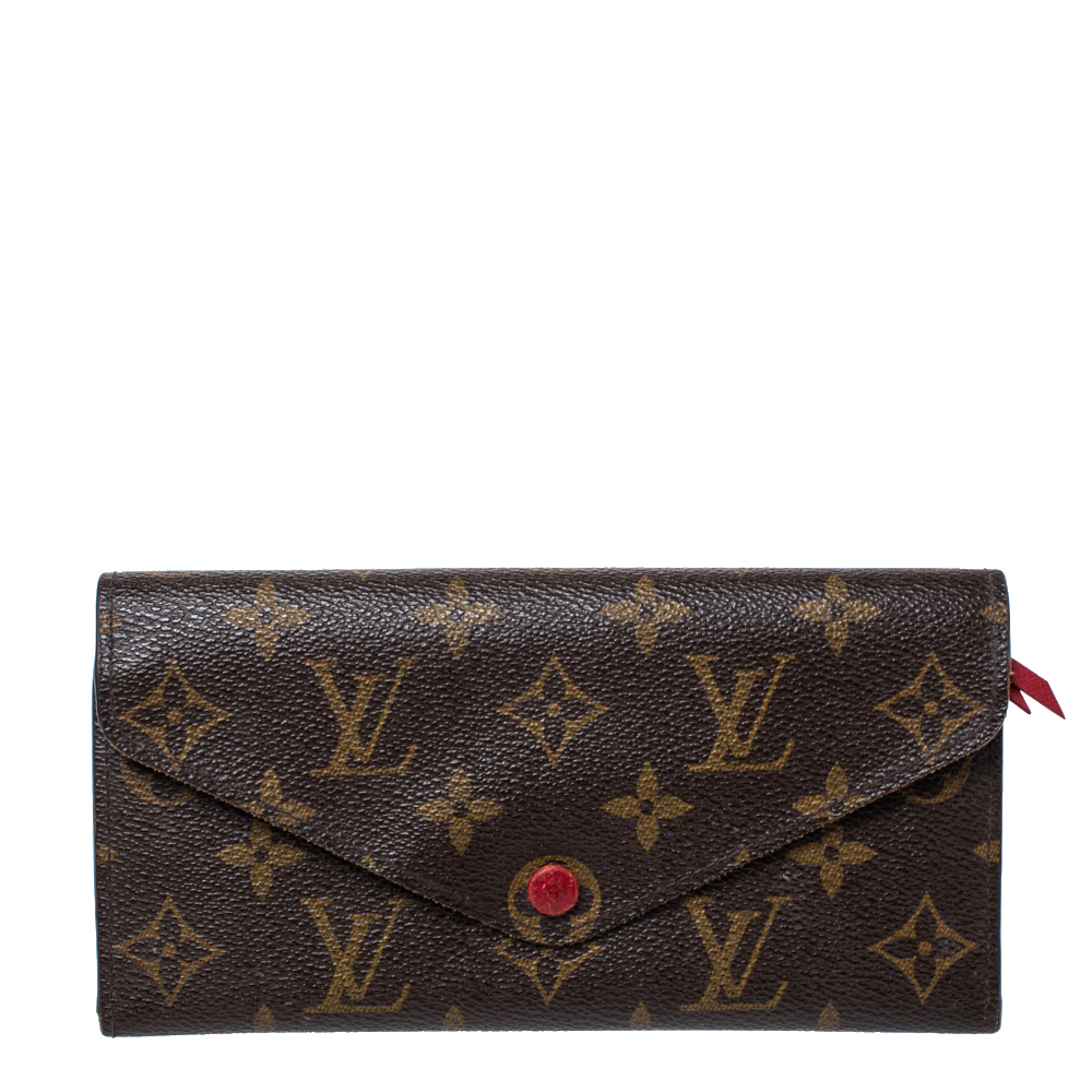Pre-owned Louis Vuitton Monogram Canvas Josephine Wallet In Brown
