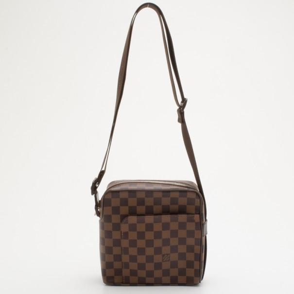 1745f7199273 Louis Vuitton Damier Ebene Canvas Olav Pm Messenger Bag 34810 At