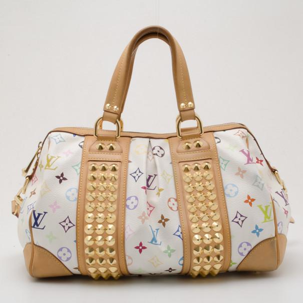 50d7ceedb8eb ... Louis Vuitton White Multicolor Courtney GM Bag. nextprev. prevnext