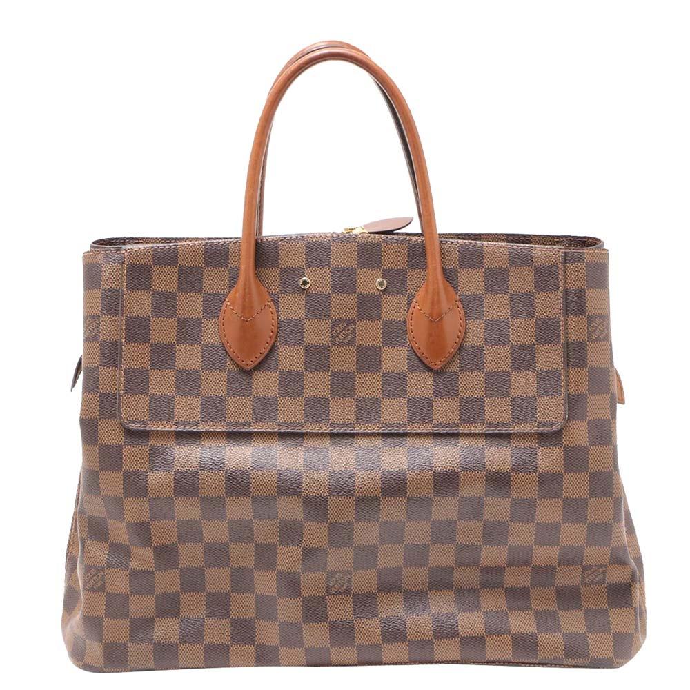 Louis Vuitton Brown Damier Ebene Ascot Bag