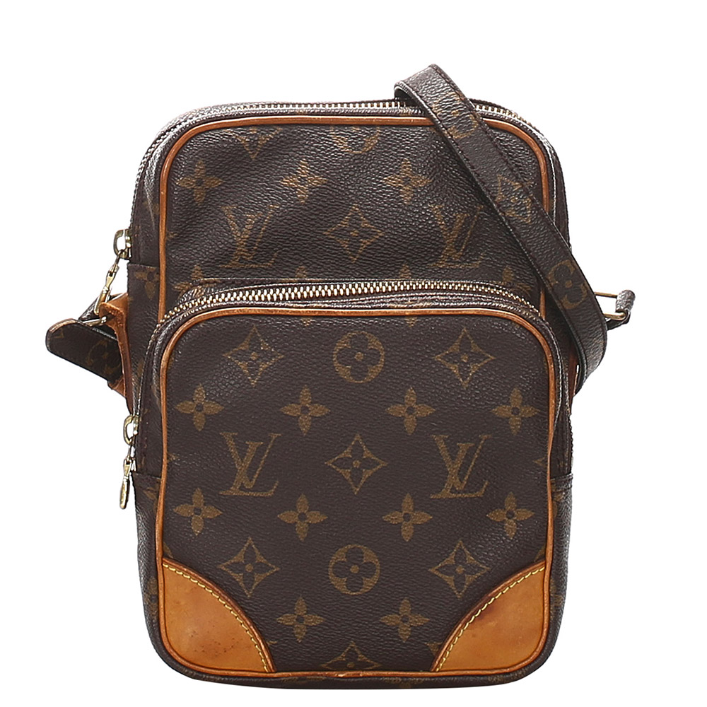 Pre-owned Louis Vuitton Brown Monogram Canvas Amazone Bag