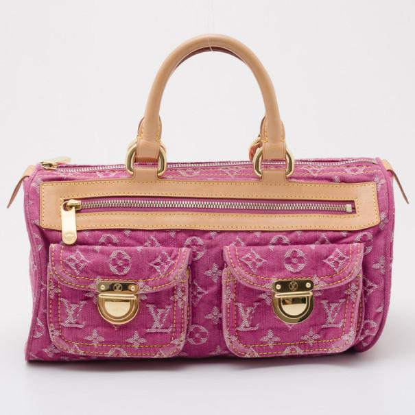 Buy Louis Vuitton Pink Monogram Denim Neo Speedy 36659 at best price ... e9a686786