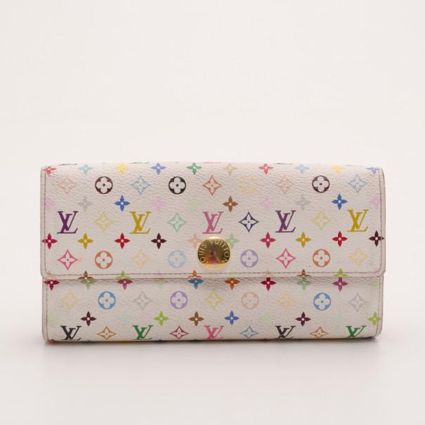 bcb96fe80a86 ... Louis Vuitton White Multicolor Monogram Sarah Wallet. nextprev. prevnext