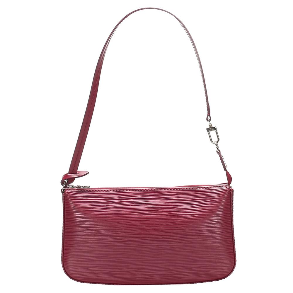 Pre-owned Louis Vuitton Red Epi Leather Pochette Accessoires Nm Bag