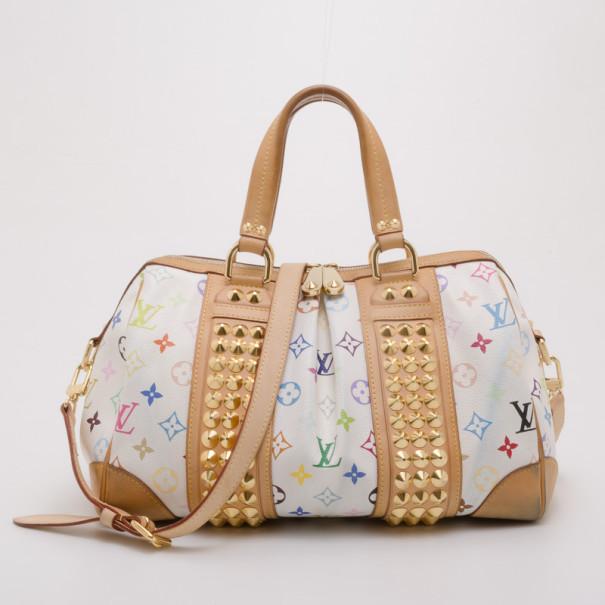 2624b0097447 Louis Vuitton Audra White Multicolor Monogram Satchel Handbag Source · Buy Louis  Vuitton Multicolor Courtney PM Satchel 37661 at best price