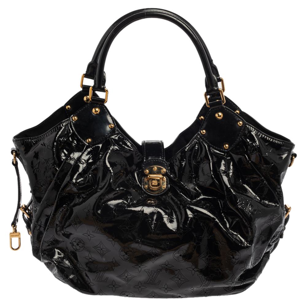 Pre-owned Louis Vuitton Black Mahina Patent Leather Limited Edition Surya L Bag