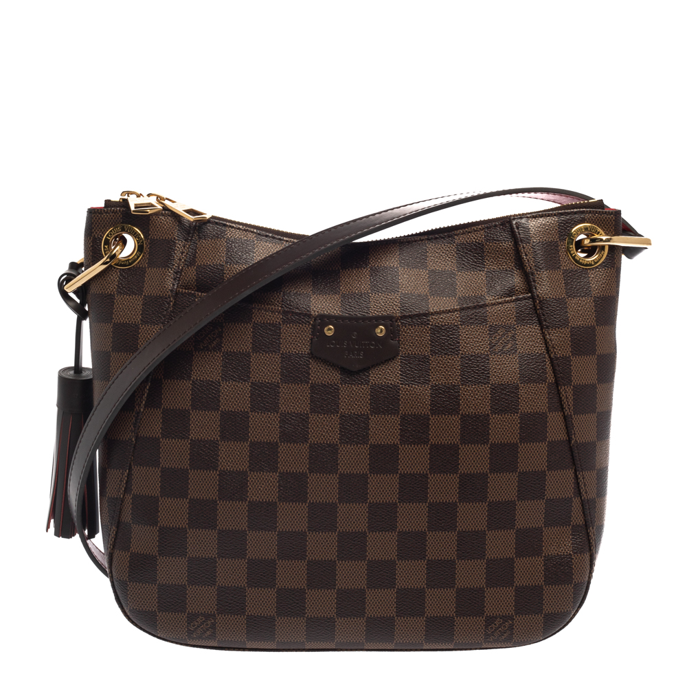 Pre-owned Louis Vuitton Damier Ebene Canvas South Bank Besace Bag In Brown