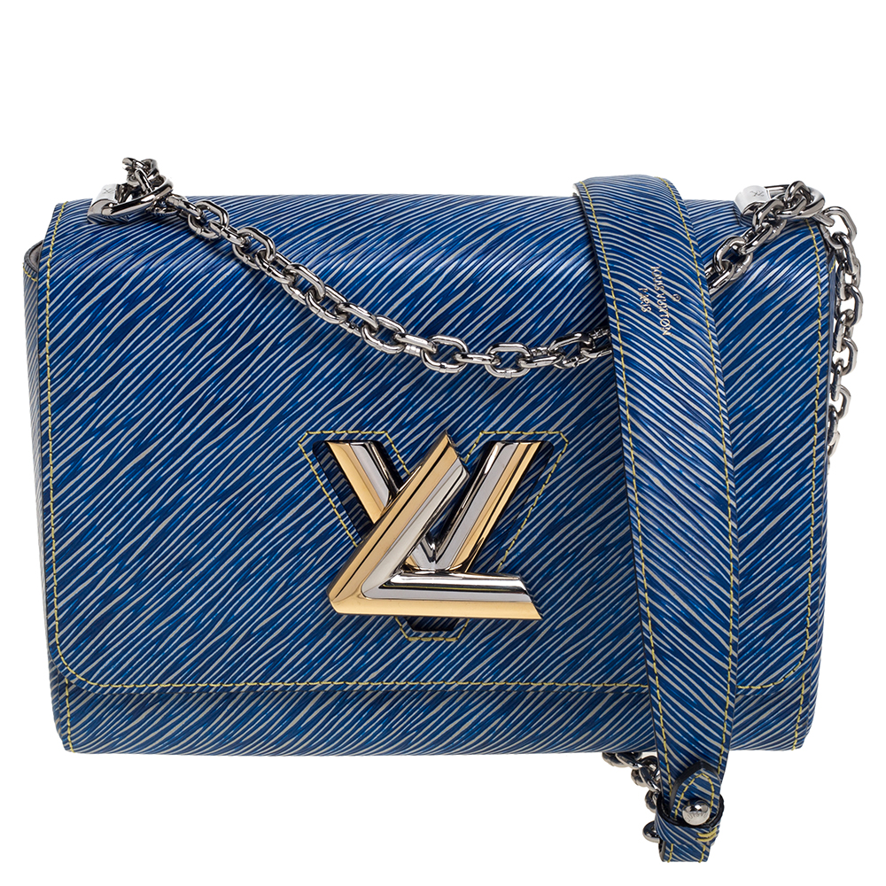 Louis Vuitton Blue Epi Leather Twist MM Bag