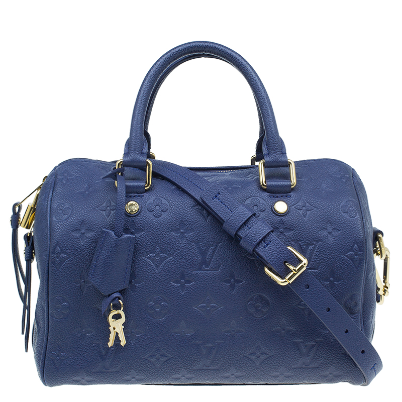 f191eacab3e2 ... Louis Vuitton Blue Empreinte Leather Speedy Bandouliere 25. nextprev.  prevnext