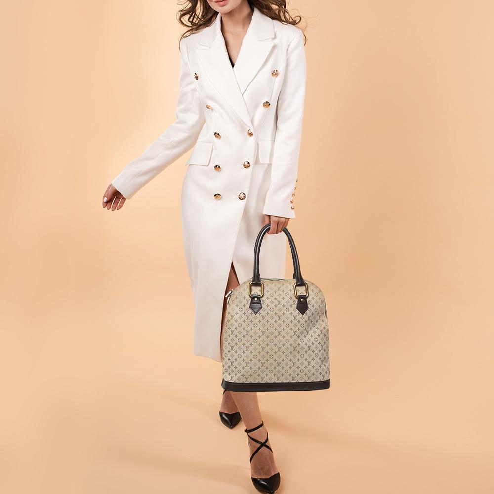 Louis Vuitton Khaki Monogram Mini Lin Canvas Alma Haut Bag, Beige  - buy with discount