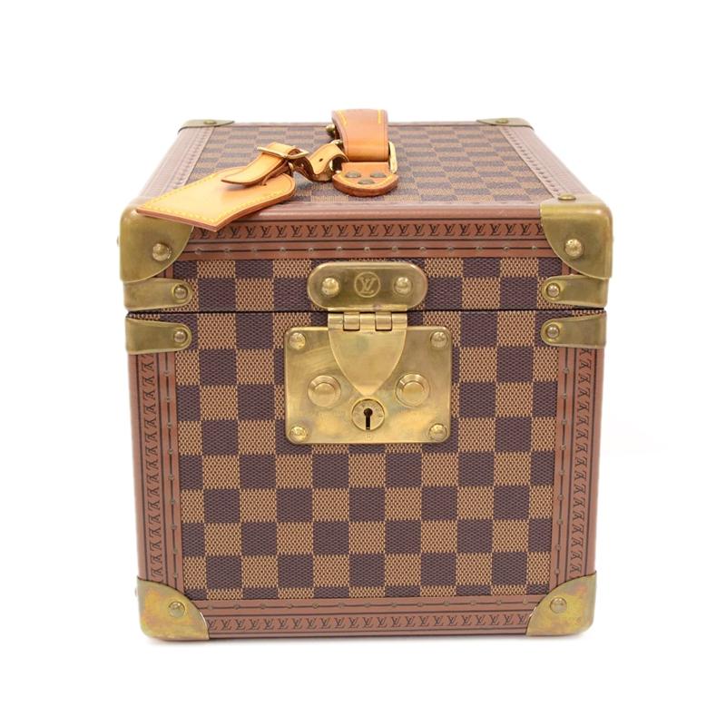 Louis Vuitton Limited Edition Damier Ebene Canvas Boite Flacons Beauty Cosmetic Trunk Case