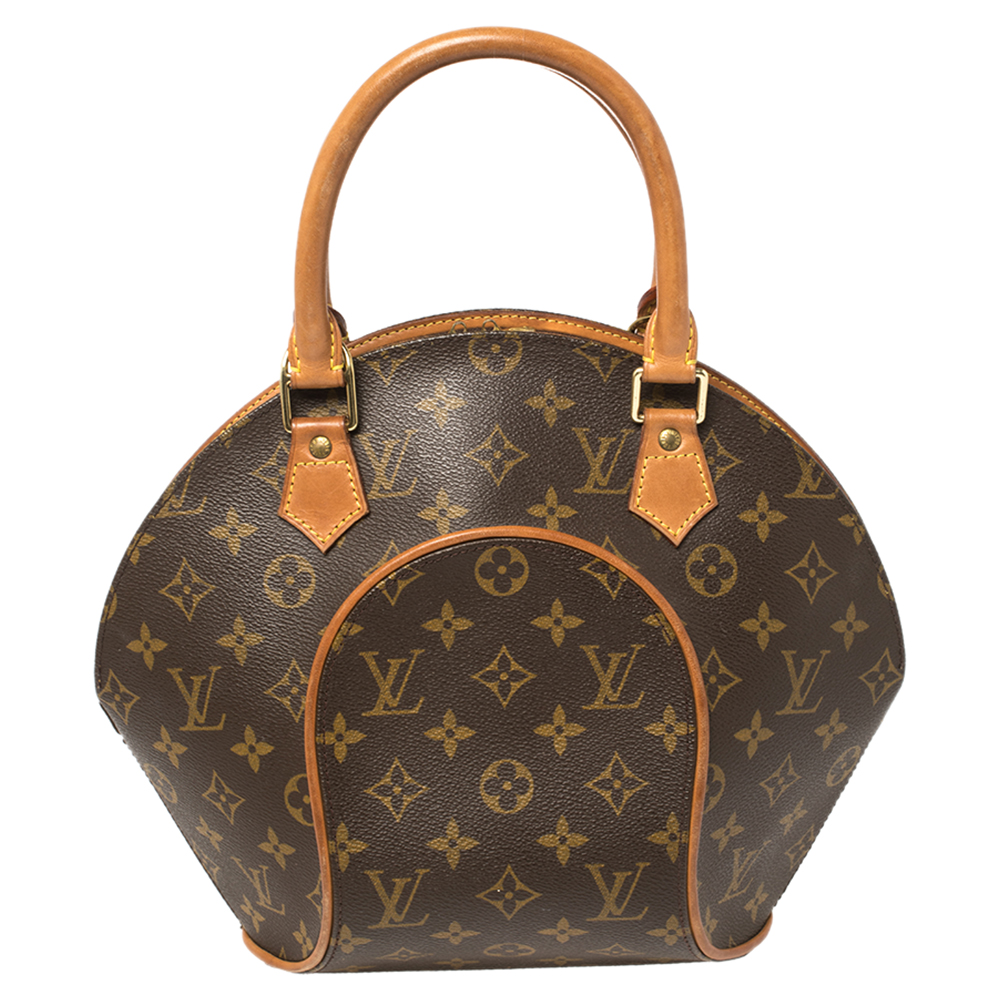 Pre-owned Louis Vuitton Monogram Canvas And Leather Ellipse Pm Bag In Brown
