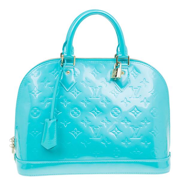 39b59493f7a1 ... Louis Vuitton Blue Lagoon Monogram Vernis Alma PM. nextprev. prevnext
