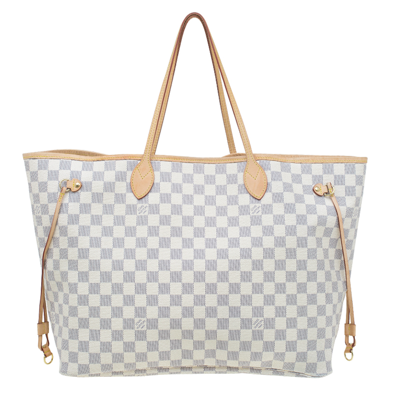e7bdde441f8 ... Louis Vuitton Damier Azur Canvas Neverfull GM Bag. nextprev. prevnext