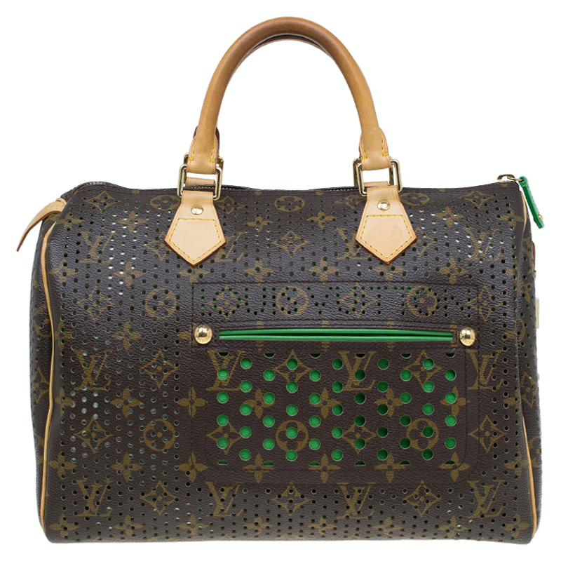 Buy Louis Vuitton Green Monogram Perforated Canvas Limited Edition ... 3059a2bad3e6e