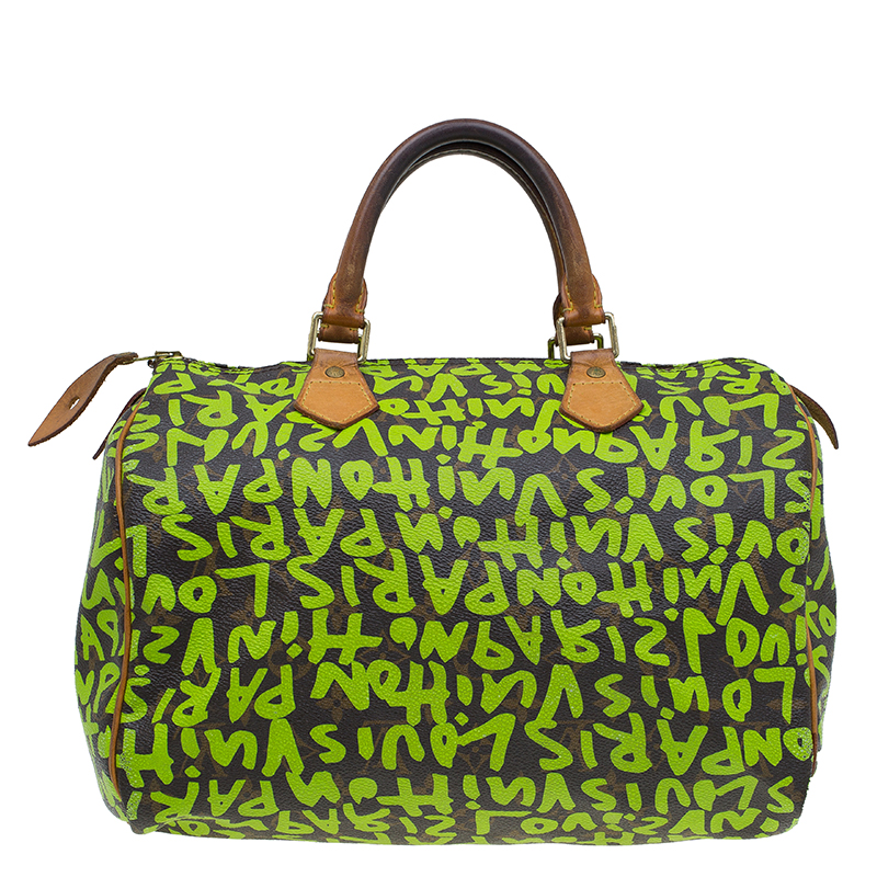 f6f4d3f6cde Buy Louis Vuitton Monogram Canvas Lime Green Graffiti Stephen ...