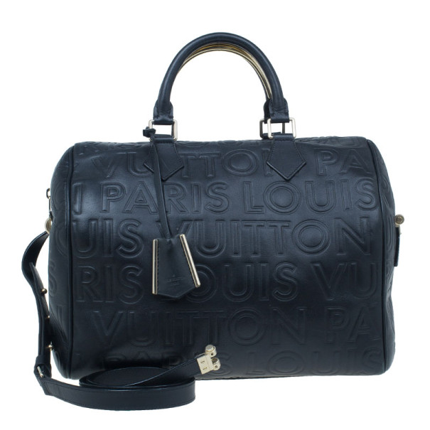 4742d727b3d0 Buy Louis Vuitton Black Monogram Leather Paris Speedy Cube 30 8015 ...