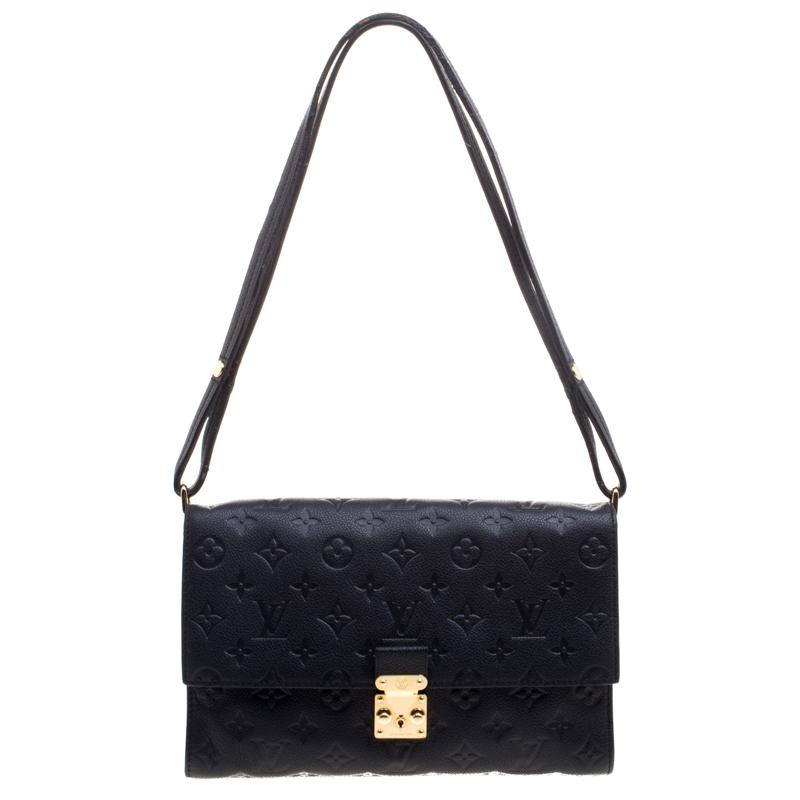 a5eb837d060d Buy Louis Vuitton Black Monogram Empreinte Leather Fascinante Shoulder Bag  98319 at best price