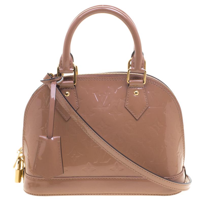 981037815ac2 Buy Louis Vuitton Rose Velours Monogram Vernis Alma BB Bag 99330 at ...