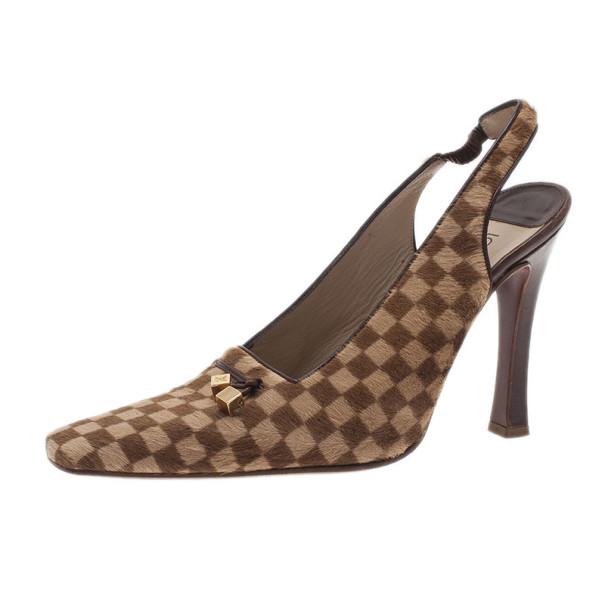 9529f384c690 ... Louis Vuitton Brown Pony Hair Slingback Sandals Size 39. nextprev.  prevnext