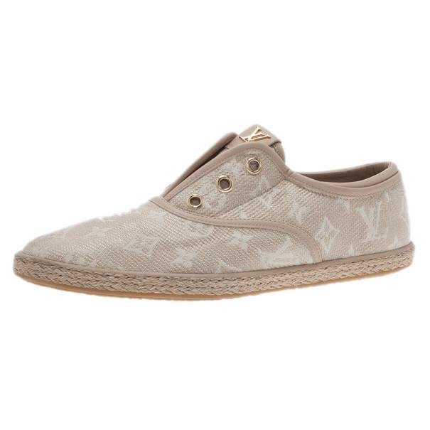 5f8933bb051c ... Buy Louis Vuitton Monogram Canvas Espadrilles Sneakers Size 40 10215