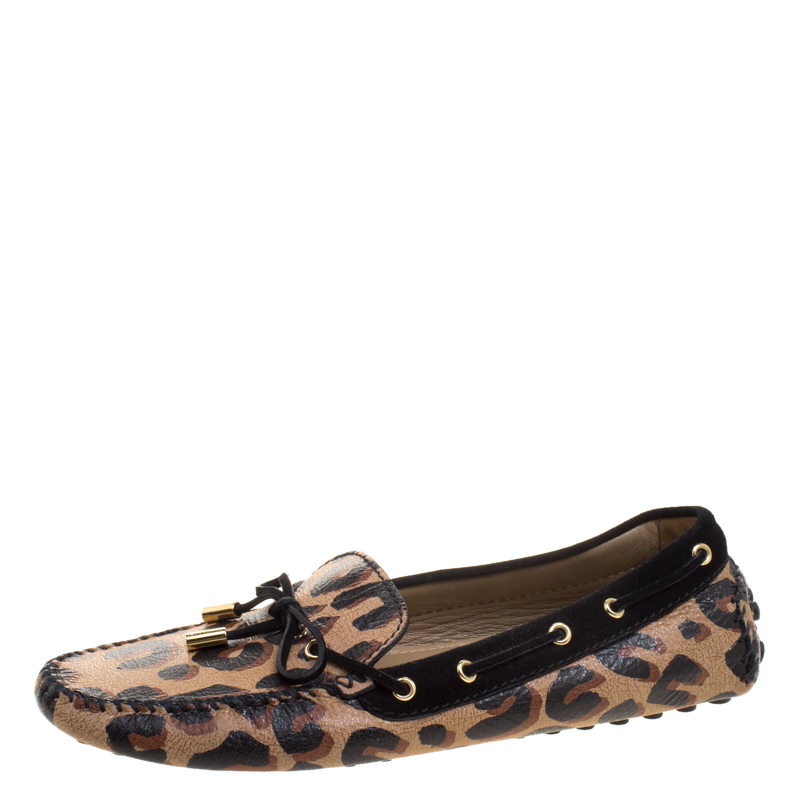 28532d6719f6 ... Louis Vuitton Leopard Print Leather and Suede Gloria Loafers Size 40.  nextprev. prevnext