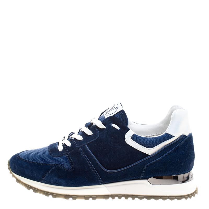 Louis Vuitton Blue Suede and Mesh Run