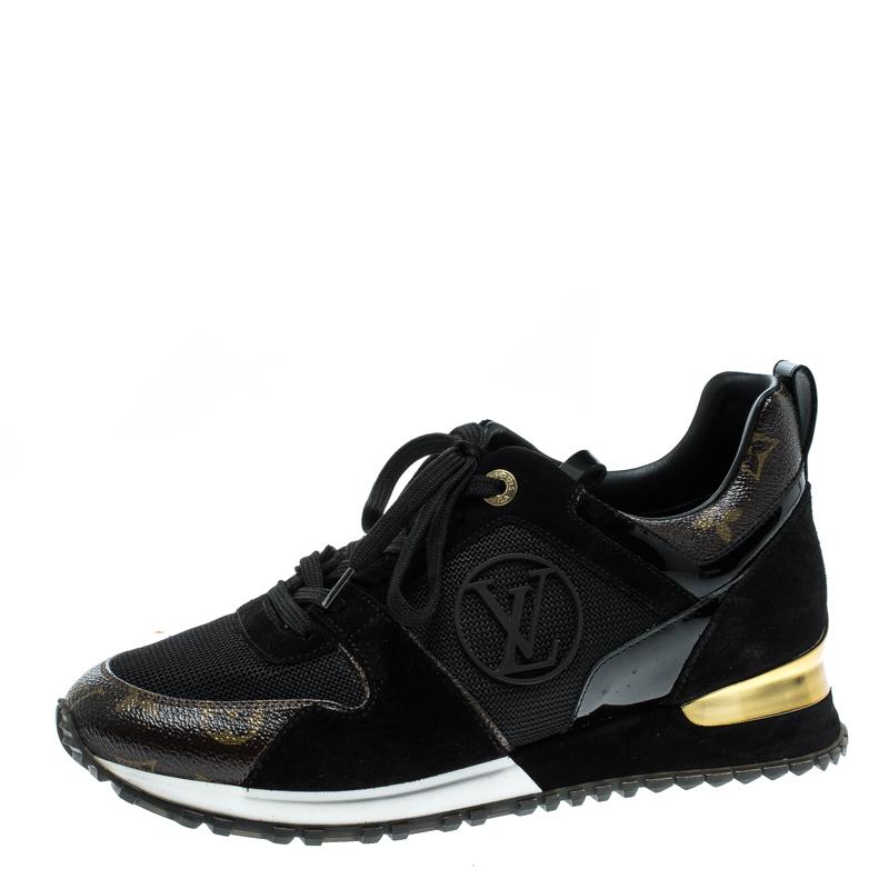 2f0ede67e448 ... Louis Vuitton Two Tone Mesh and Monogram Canvas Run Away Sneakers Size  39. nextprev. prevnext