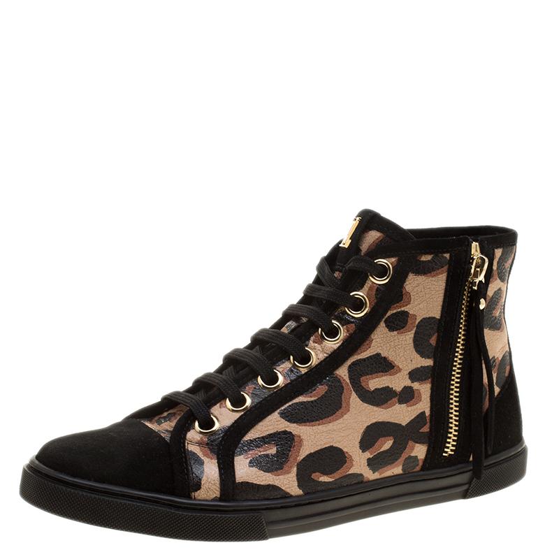 Louis Vuitton Black Suede and Leopard