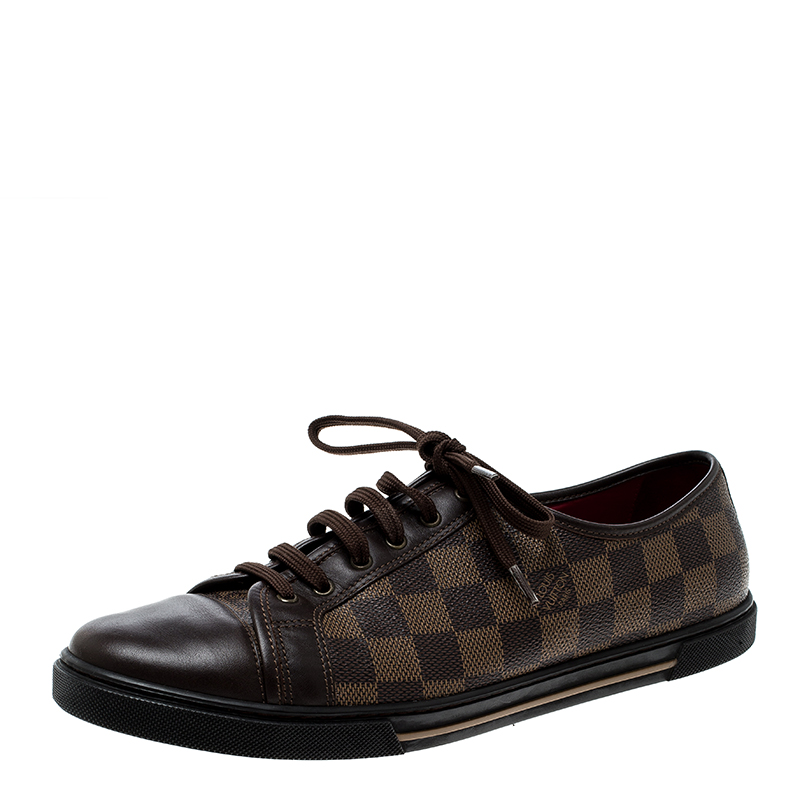 ef6f6a5adc28 ... Louis Vuitton Damier Ebene And Leather Punchy Low Top Sneakers Size 40.  nextprev. prevnext