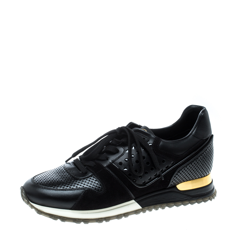 413e9435fce4 ... Louis Vuitton Black Leather and Suede Runaway Sneakers Size 39. nextprev.  prevnext