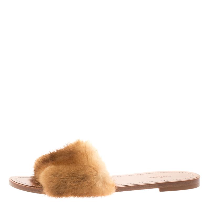 Louis Vuitton Brown Mink Fur Lock It