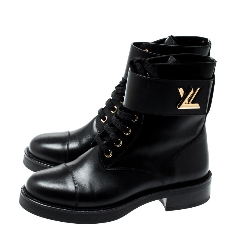 Louis Vuitton Black Leather Wonderland