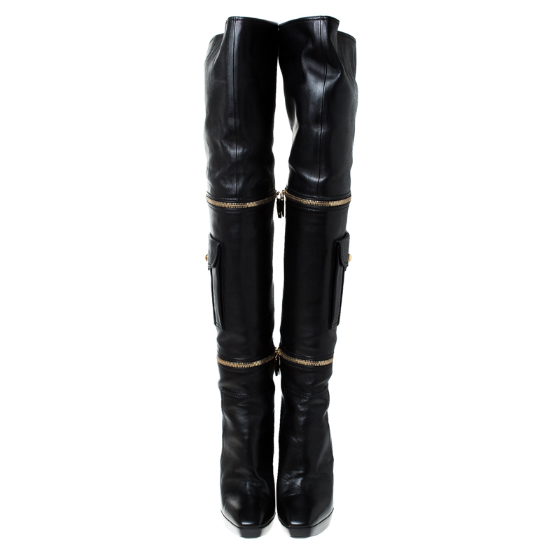 louis vuitton over knee boots