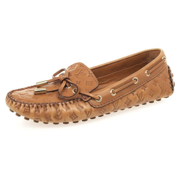 5e126fc1289a ... Louis Vuitton Monogram Leather Gloria Loafers Size 35. nextprev.  prevnext