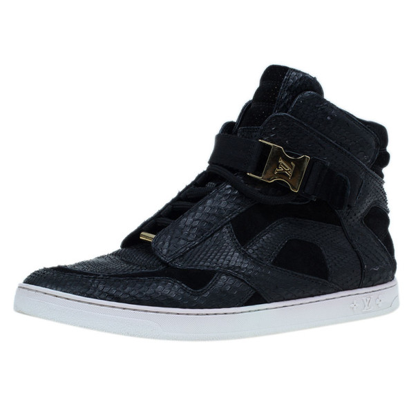 ea02791ef385 ... Louis Vuitton Black Python Slipstream Sneaker Boots Size 38. nextprev.  prevnext