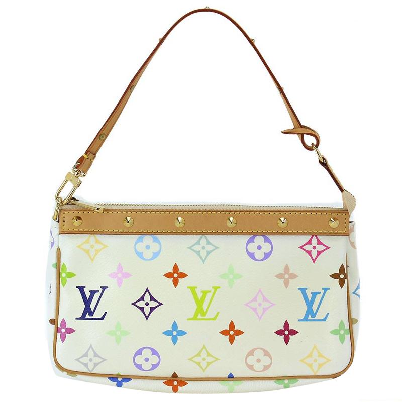 70bbe53c2879 ... Louis Vuitton White Monogram Multicolor Pochette Accessoires. nextprev.  prevnext