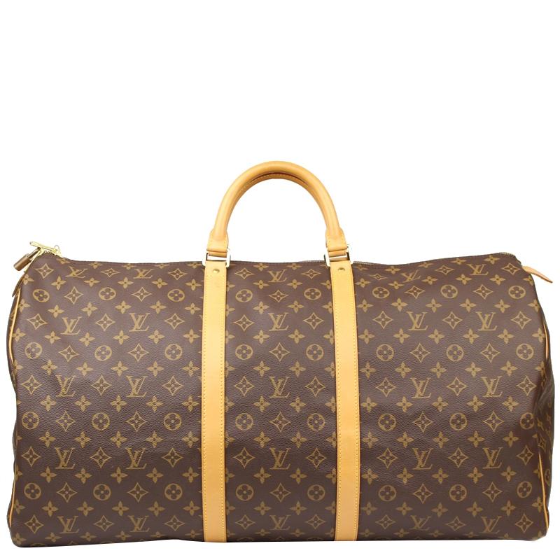 4ba4d9ab2ae Louis Vuitton Monogram Canvas Keepall 60 Bag