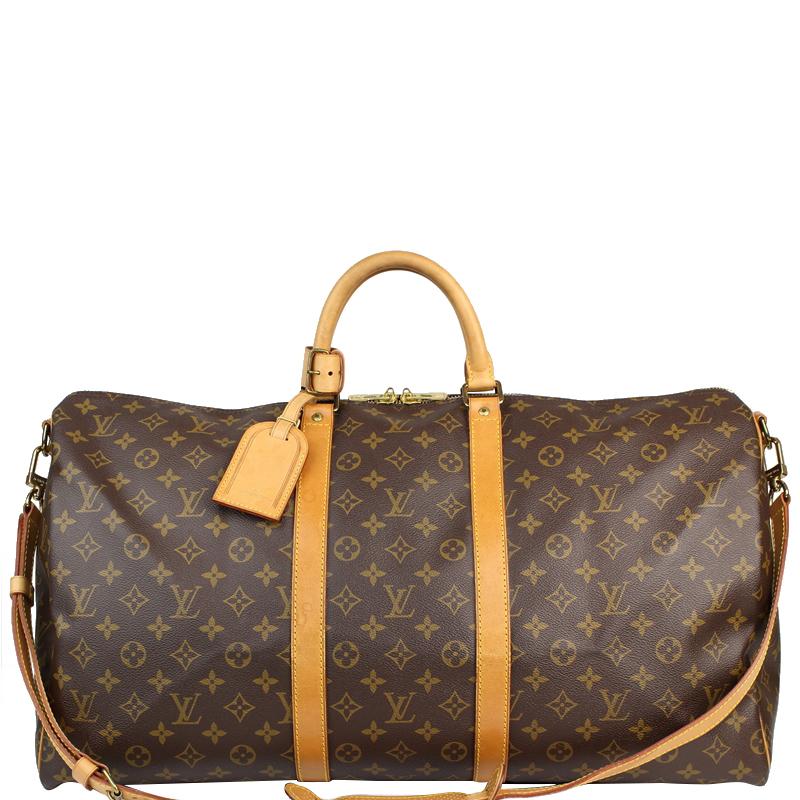 89abd965609a ... Louis Vuitton Monogram Canvas Keepall Bandouliere 55 Bag. nextprev.  prevnext