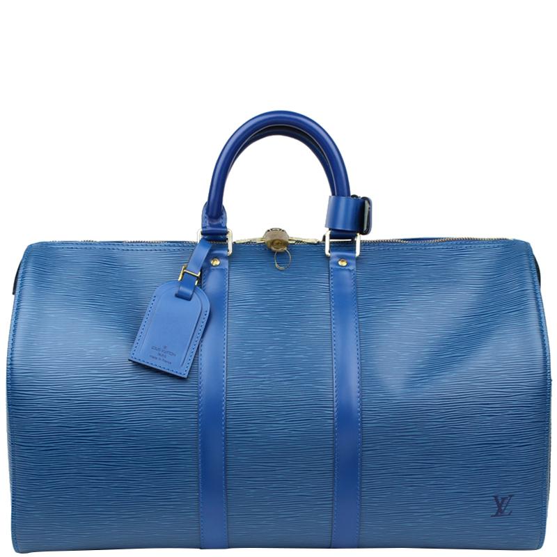 a6ae9c25256b ... Louis Vuitton Toledo Blue Epi Leather Keepall 45 Bag. nextprev. prevnext