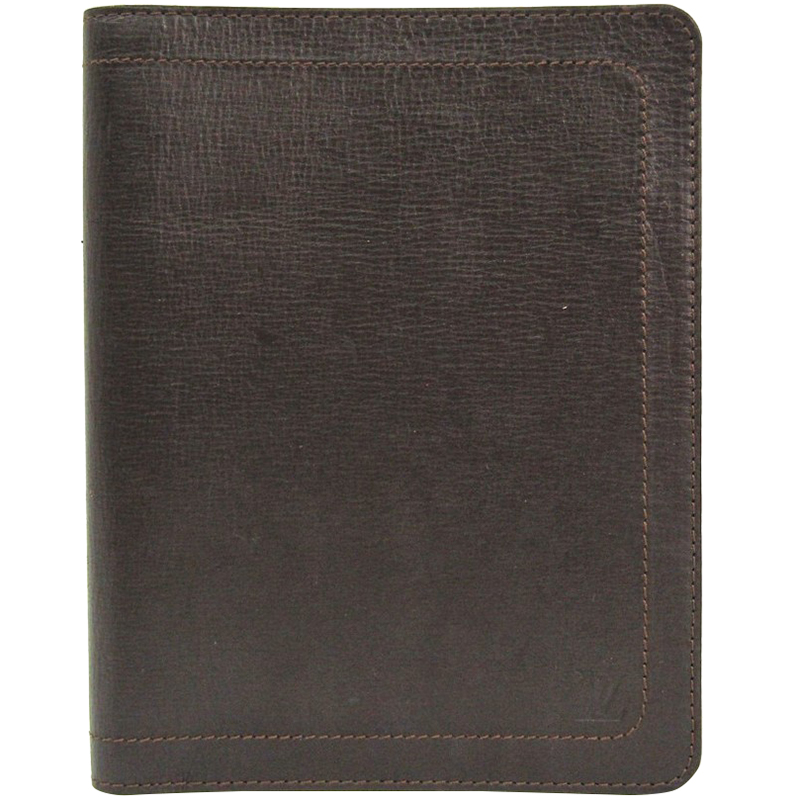 96d5a7bc68a Buy Louis Vuitton Coffee Utah Leather Agenda Cover 162822 at best ...