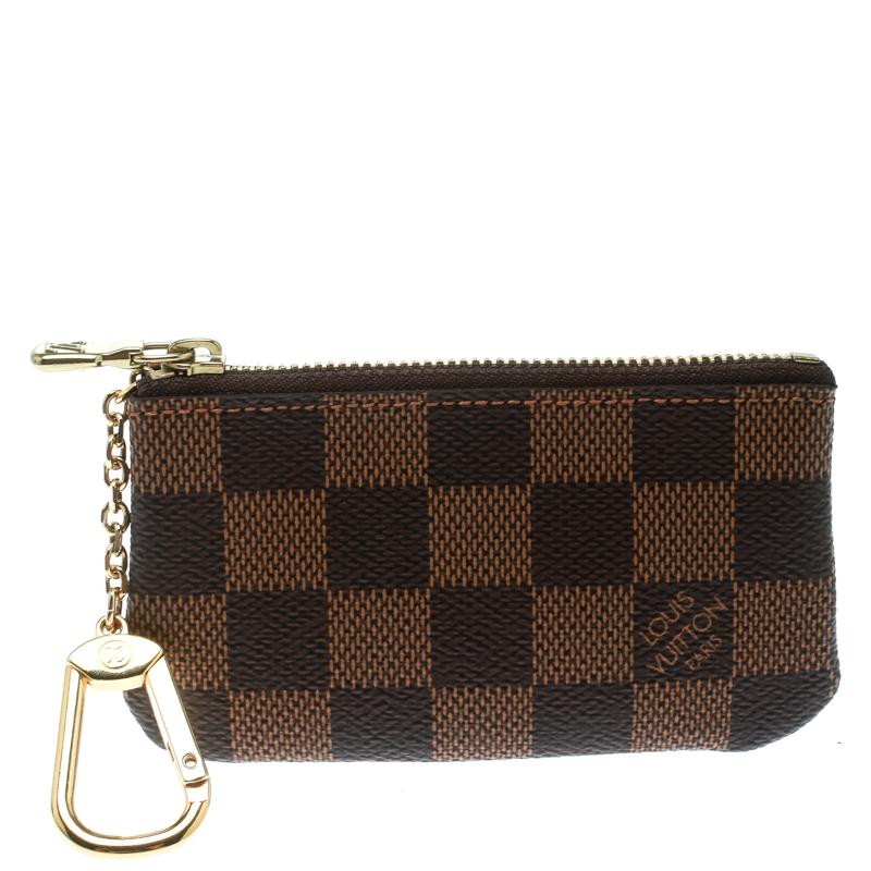85daec3b4585 Buy Louis Vuitton Damier Ebene Canvas Key Pouch 175664 at best price ...