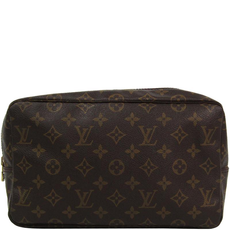 new product f9f38 9551b Louis Vuitton Monogram Canvas Trousse Toilette 28 Cosmetic Case