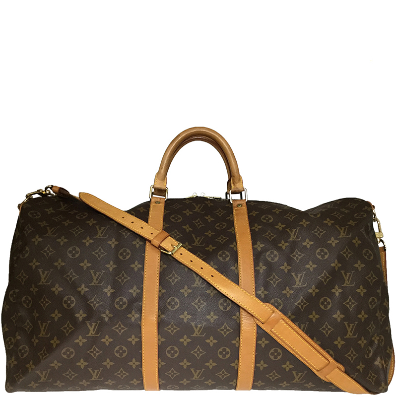 4167b6918da0 Buy Louis Vuitton Monogram Canvas Keepall Bandouliere 60 Bag 177682 ...