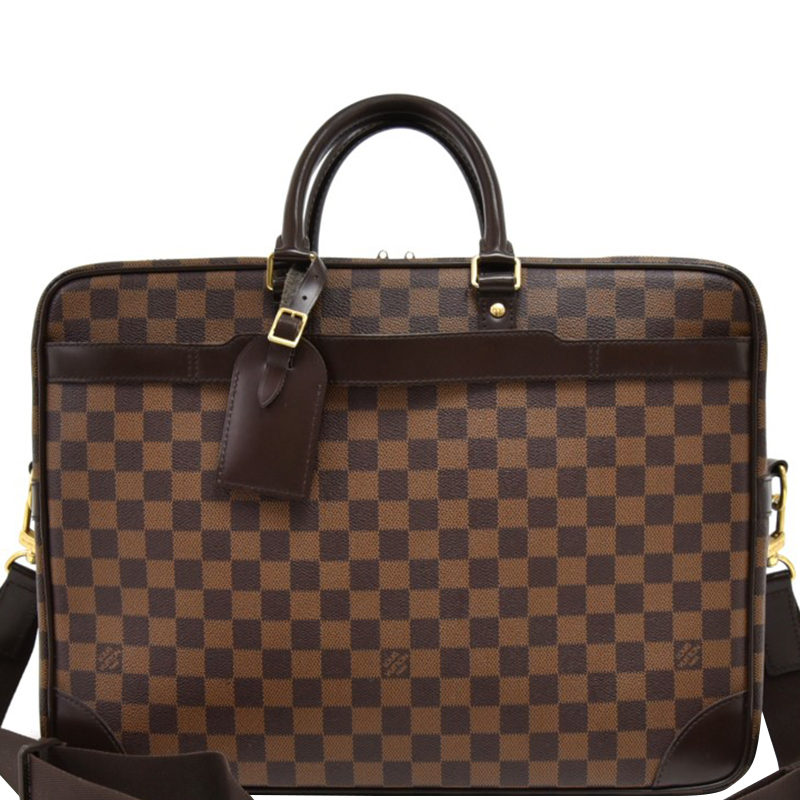 Louis Vuitton Damier Ebene Canvas Porte Documents Voyage GM Briefcase