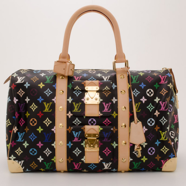 Louis Vuitton Monogram Multi Color Keepall 45 Duffle Bag